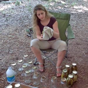 Liz making pickles