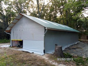 Tarped shed