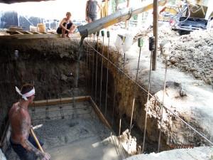 pouring cistern slab concrete