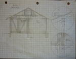 Tony's shed south side drawing